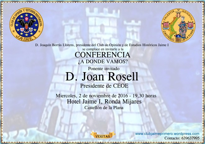 Conferencia J Rosell